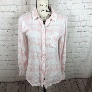 Rails Hunter plaid button down shirt